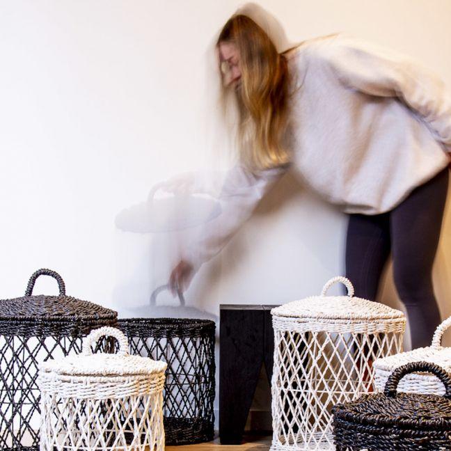 Ketba Basket | Set of 3 | Black or white by SATARA