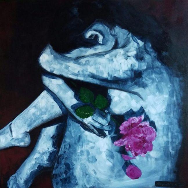 Kiss From A Rose by Marguerite Bonwick | Ltd Edition Canvas Print | Art Lovers Australia