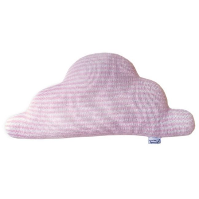 Knitted Cloud by Homely Creatures | Stripe Pink & Cream | Large