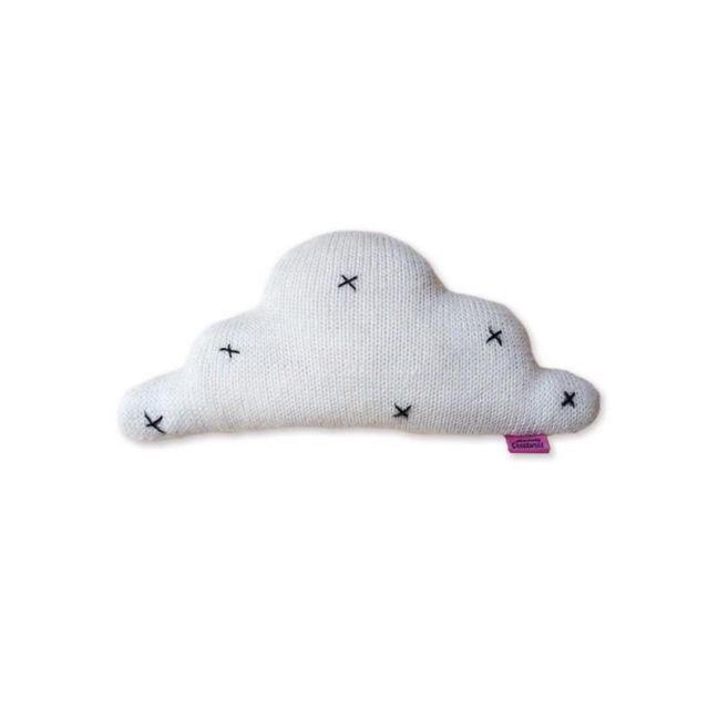 Knitted Cloud Cushion by Homely Creatures | Off White | Small