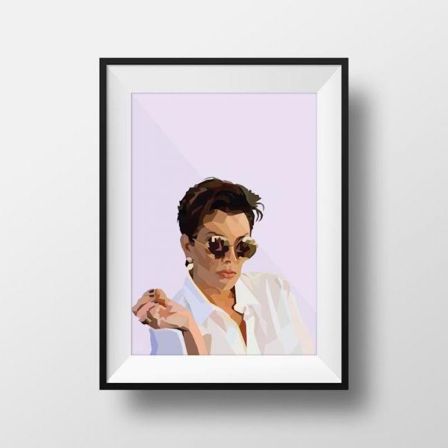Kris Jenner | Art Print | Framed and Unframed