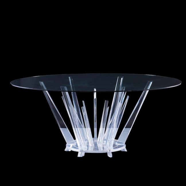 Kryptonite Round 4 Seater Dining Table |  Lucite Acrylic
