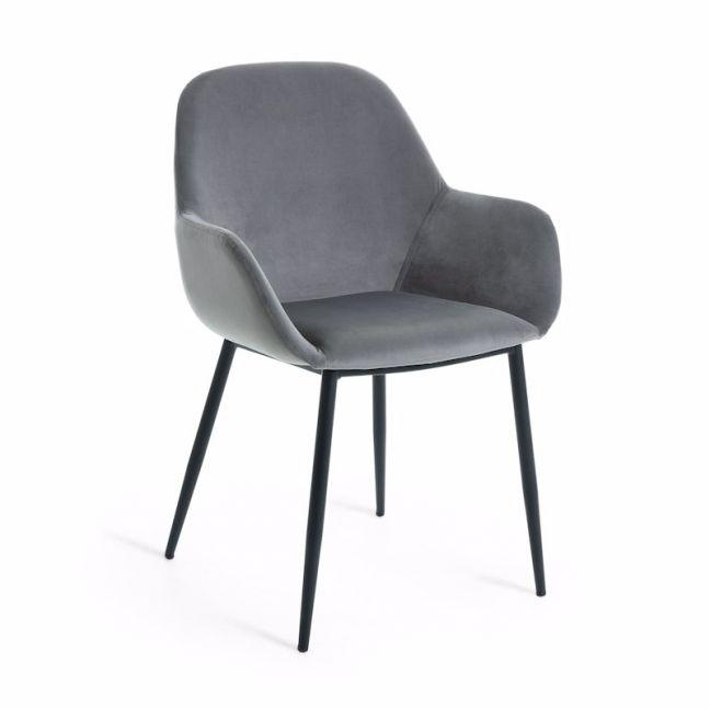 Kylie Dining Chair | Pewter Grey Velvet | CLU Living