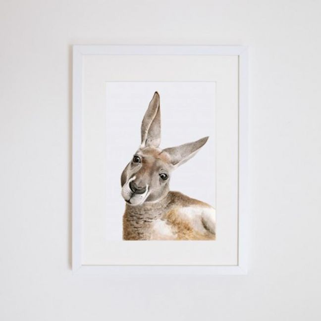 Kylie the Kangaroo Giclee Print | by For Me By Dee