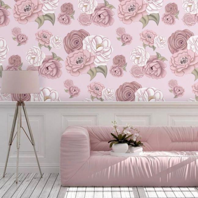 La Rochelle Cool Pink Wallpaper
