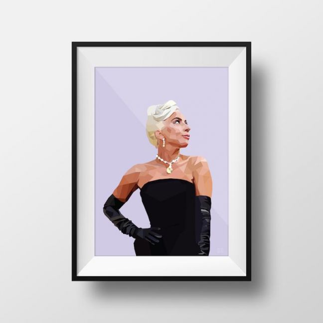 Lady Gaga | Art Print | Framed and Unframed