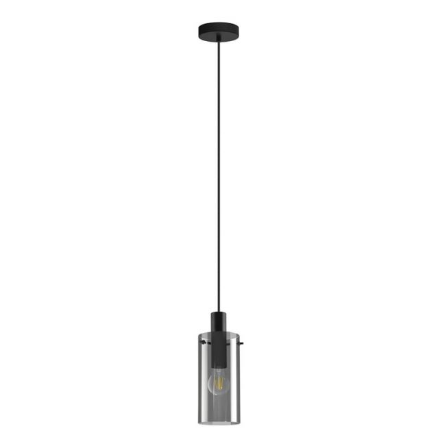 Lamode 1 Light Pendant in Black Smoke   by Beacon Lighting