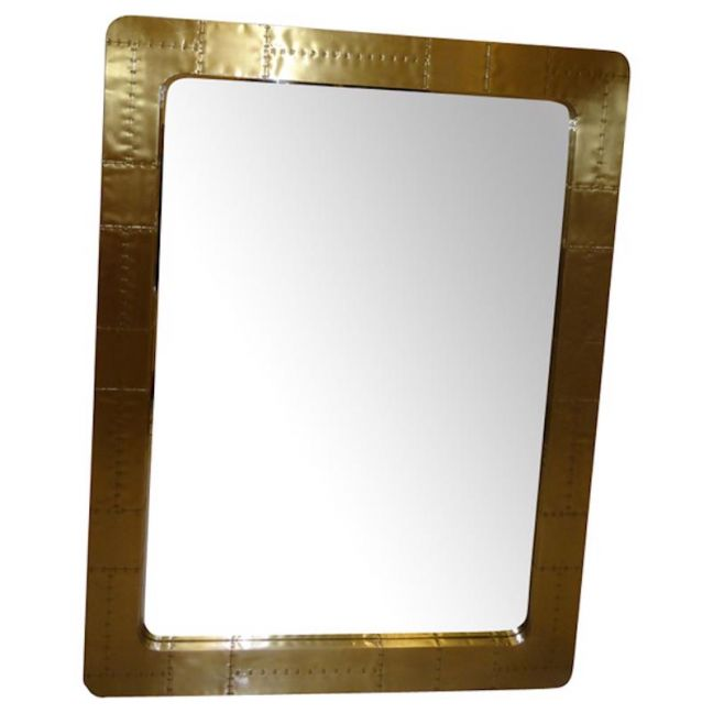 Large Rectangle Wall-Floor Mirror | Brass | by Cocolea Furniture