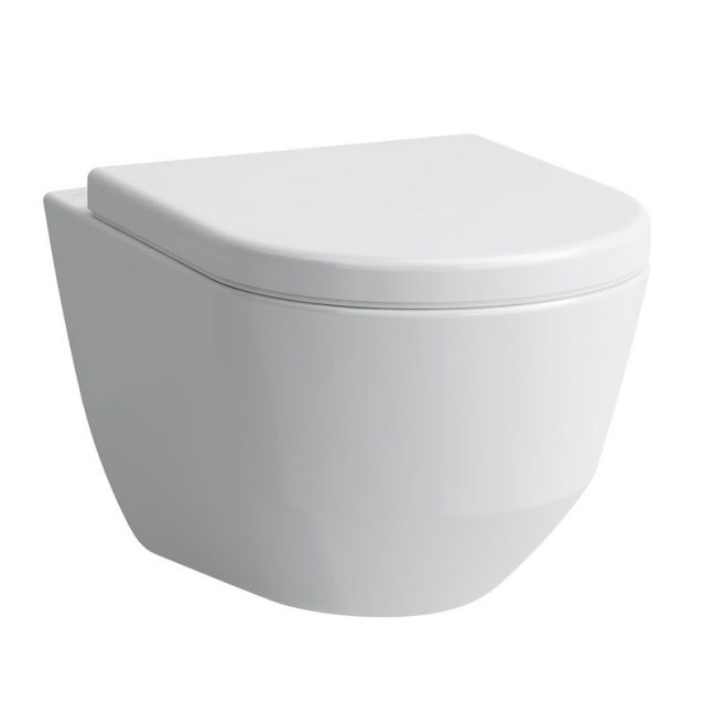 Laufren Pro A Wall Pan with Soft Close Seat White