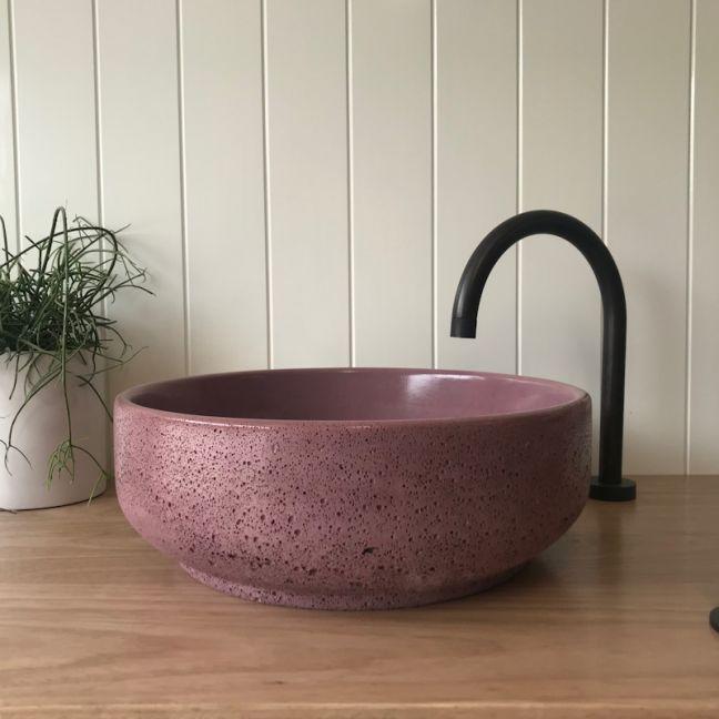 Lauren Round Basin by DLH Designs| Merlot