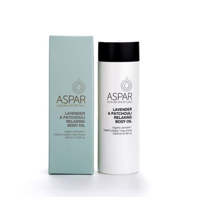 Lavender & Patchouli Relaxing Body Oil by ASPAR