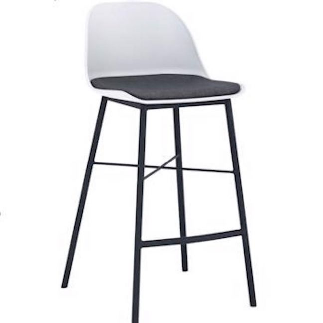 LAXMI Counter Stool - White & Black
