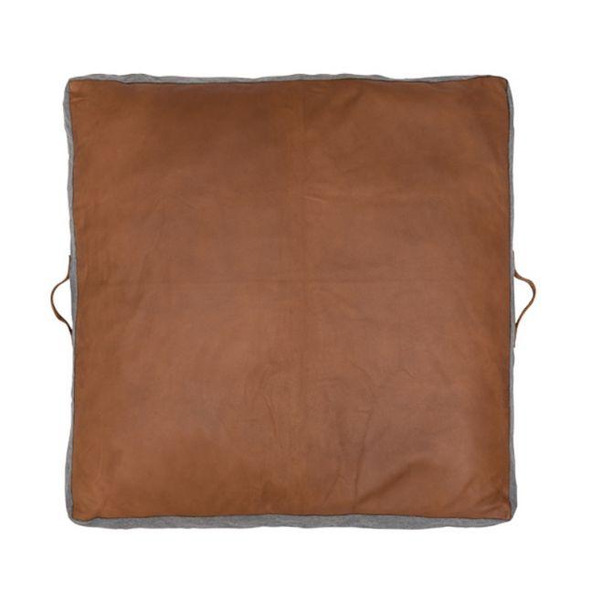 Leather Cushion Floor Pad by Amigos De Hoy | Square | Tan