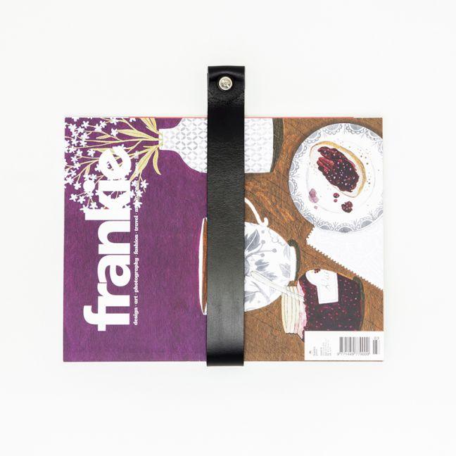 Leather Magazine Strap   Black   Jemmervale Designs