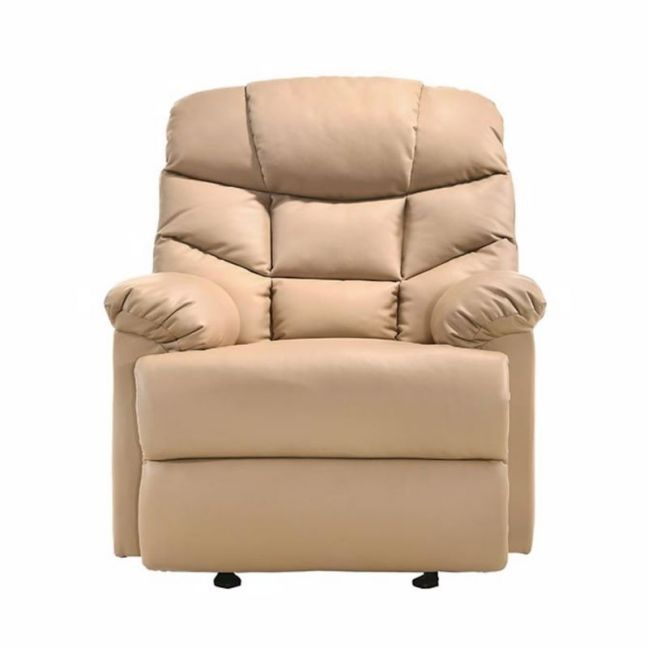 Leather Rocking Recliner Chair | Beige