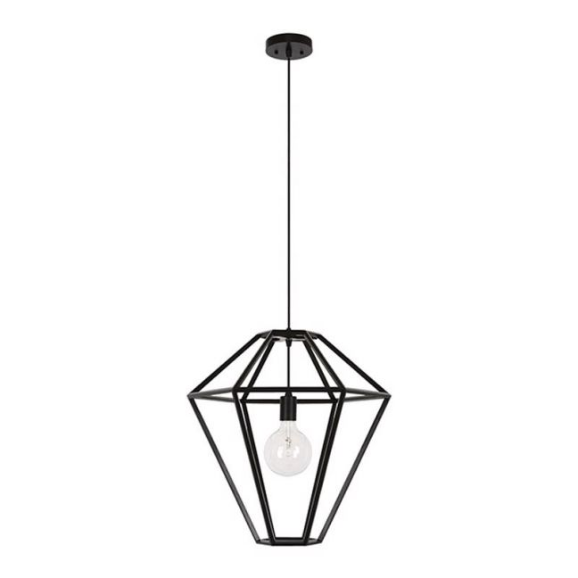 Leconic Contra Pendant in Black | By Beacon Lighting