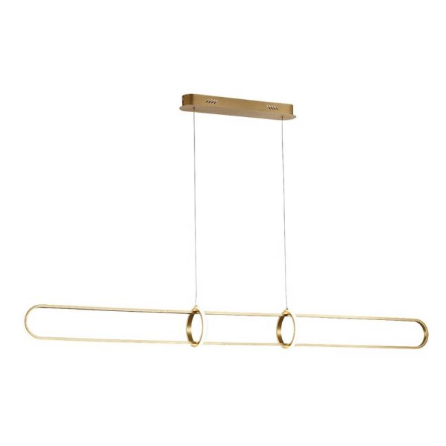 LEDlux Avenue LED Dimmable Bar Pendant in Brass | By Beacon Lighting