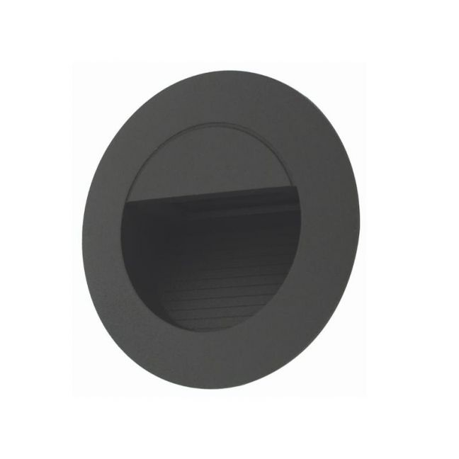 LEDlux Desi LED 12V Round Steplight in Charcoal | By Beacon Lighting