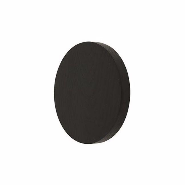 LEDlux Disk LED 250mm Black Wall Light in Warm White | Beacon Lighting