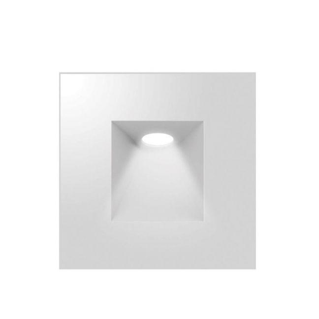 LEDlux Elfa LED Square Inset Steplight in White | By Beacon Lighting