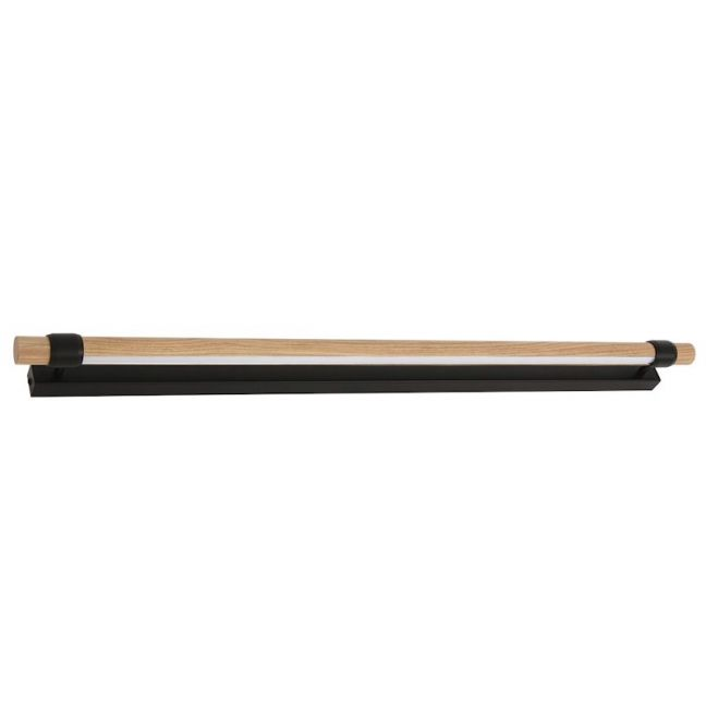 LEDlux Kings 900mm Dimmable LED Wall Bracket in Black/Teak | By Beacon Lighting