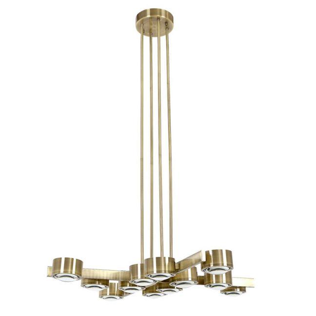 LEDlux Lugano LED 12 Light Pendant in Antique Brass | by Beacon Lighting