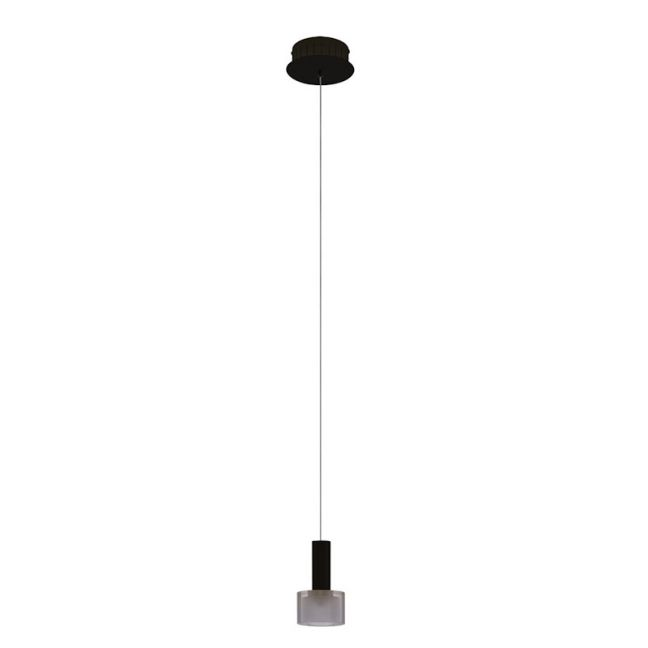 LEDlux Pharos 1 Light LED Pendant in Black/Smoke | By Beacon Lighting