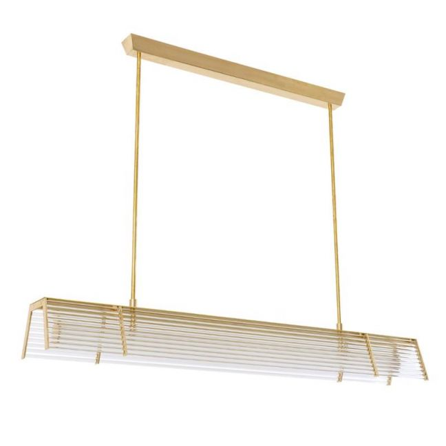 LEDlux Rivit LED 1200mm Colour Change Dimmable Pendant in Brass | By Beacon Lighting
