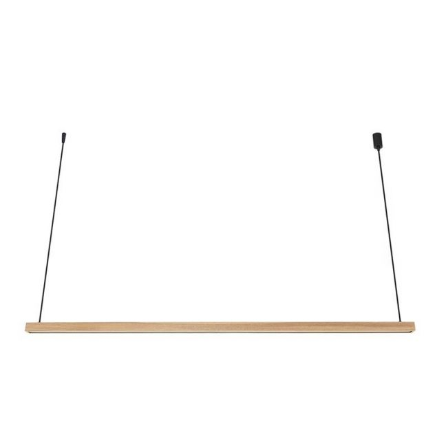 LEDlux Strix LED 2400 Lumen Dimmable Pendant in Teak | By Beacon Lighting