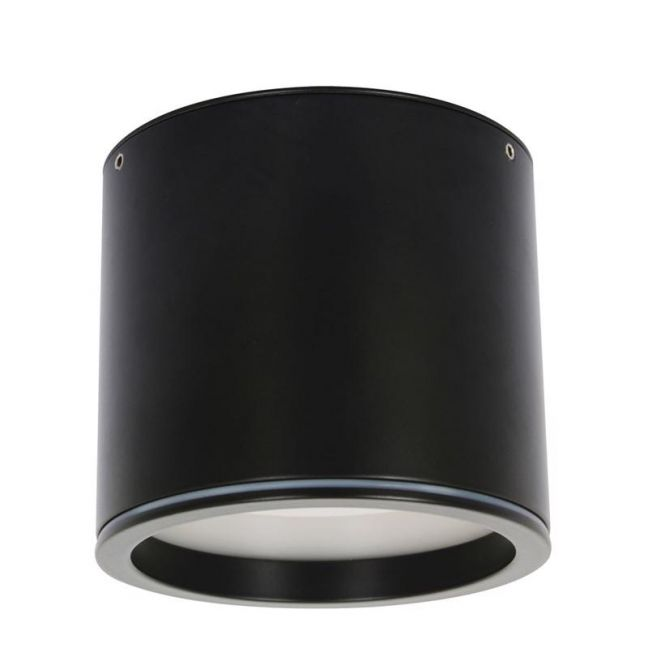 LEDlux Surface 80mm Dimmable Downlight in Black | Beacon Lighting