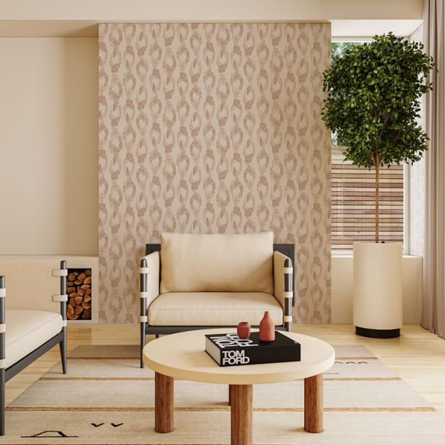 Leopard Spots - Blush   Wallpaper