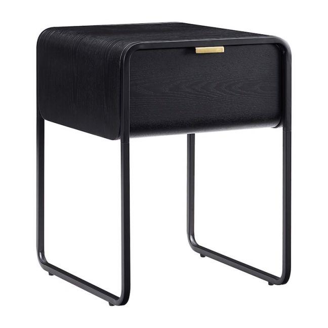 Leroy Brass Handle Bedside Table
