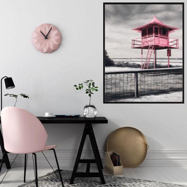 Lifeguard Box / P7017 / Framed Canvas / Colour Clash Studio
