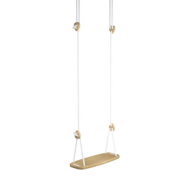 Lillagunga Classic Swing | Oak with White Rope