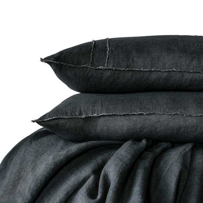 Linen Duvet Set   King Size   Slate
