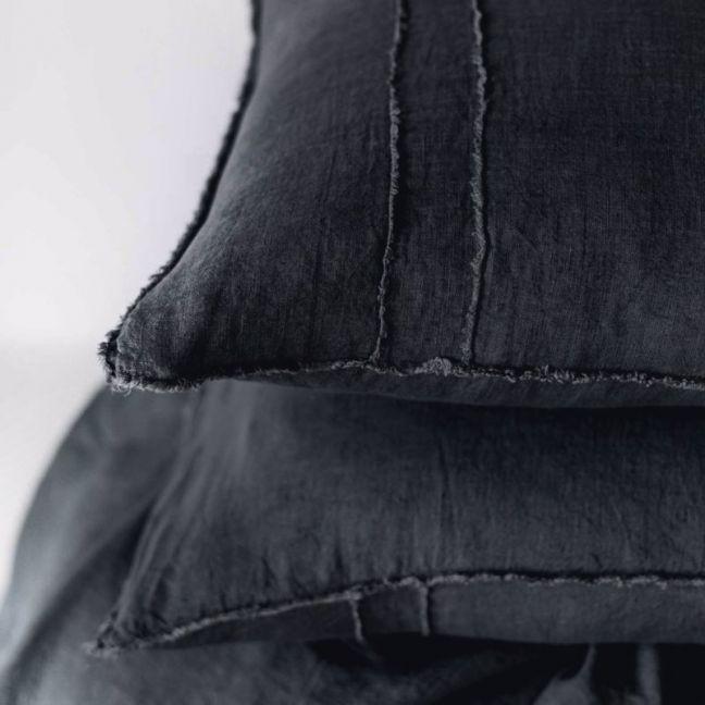 Linen Pillowcases | Black