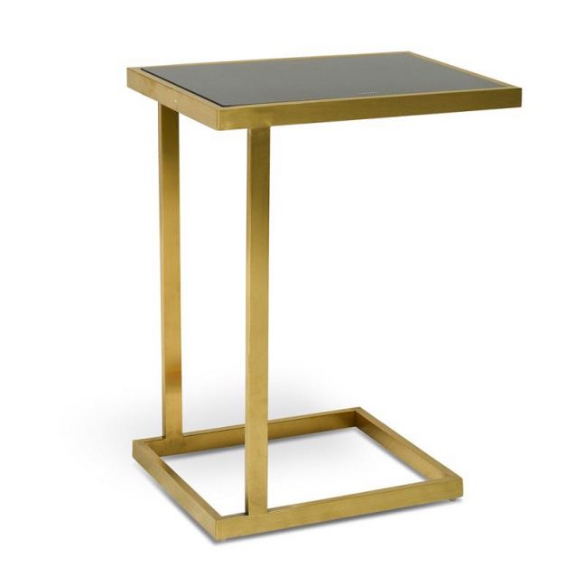 Lioyd Glass Side Table | Gold Base