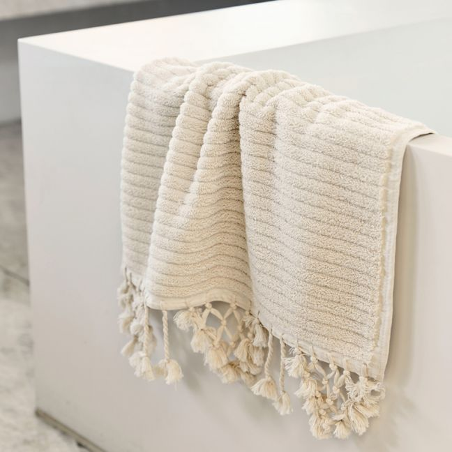 Loom Towels Ecru Bath Mat