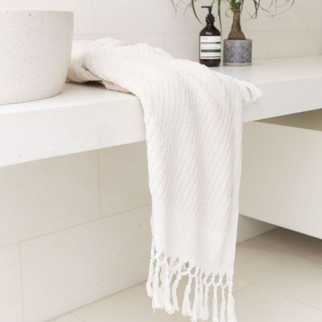Loom Towels Ecru Bath Towel