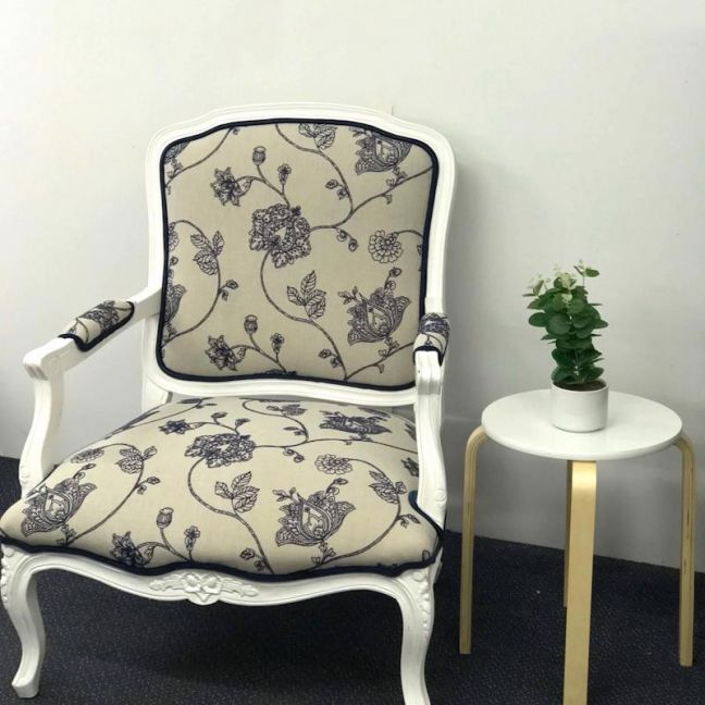 Louis French Provincial Upholstered Chair | Custom Fabric | by Bedsahead