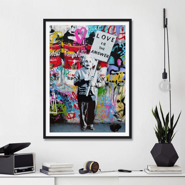 Love Is The Answer Street Art | Unframed Art Print