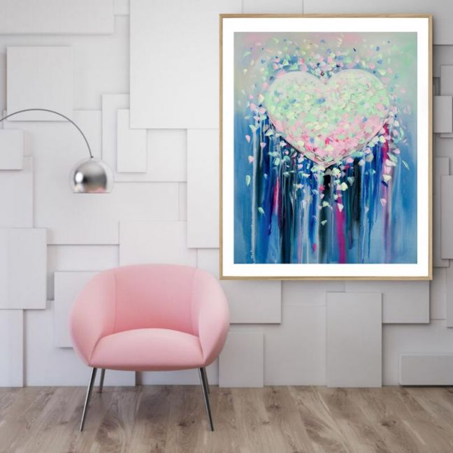 Love | P1015-12 | Framed Print | Colour Clash Studio