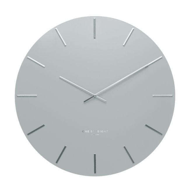 Luca Light Grey 60cm SILENT Wall Clock
