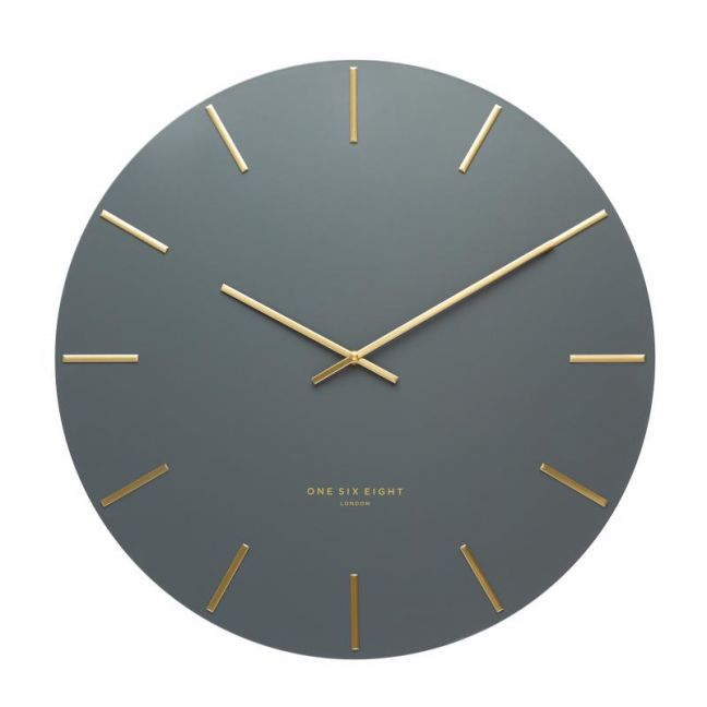 Luca Silent Wall Clock | 40cm | Charcoal