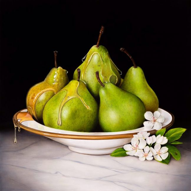 Luscious Pears by Natasha Junmanee | Ltd. Edition Canvas Print | Art Lovers Australia