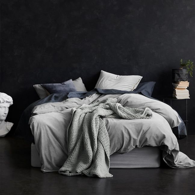 Luxury Velvet Quilt Cover | Dove by Aura Home