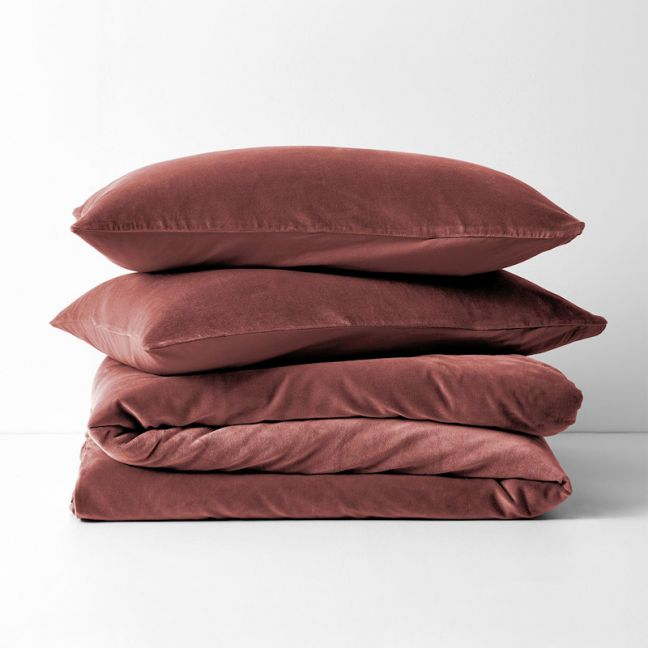 Luxury Velvet Quilt Cover | Mahogany by Aura Home
