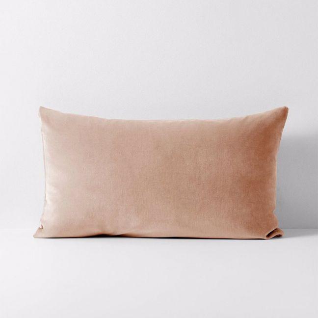 Luxury Velvet Standard Pillowcase   Rosewater   by Aura Home