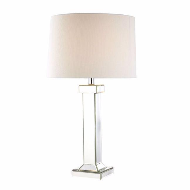 Lydia Mirror Pillar Table Lamp | by Black Mango