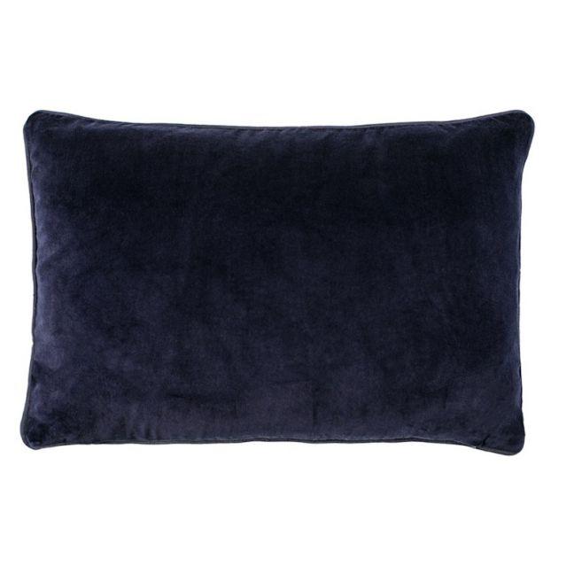 Lynette Velvet Cushion | Navy | Rectangle